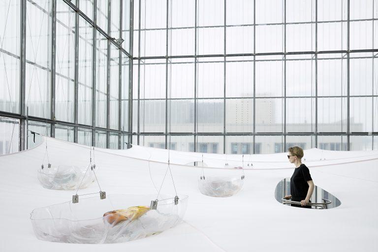 Underbelly, 2019. Installation view at MdbK Leipzig. Courtesy: the artists and carlier | gebauer, Berlin/Madrid.           Photo: Ugnius Gelguda