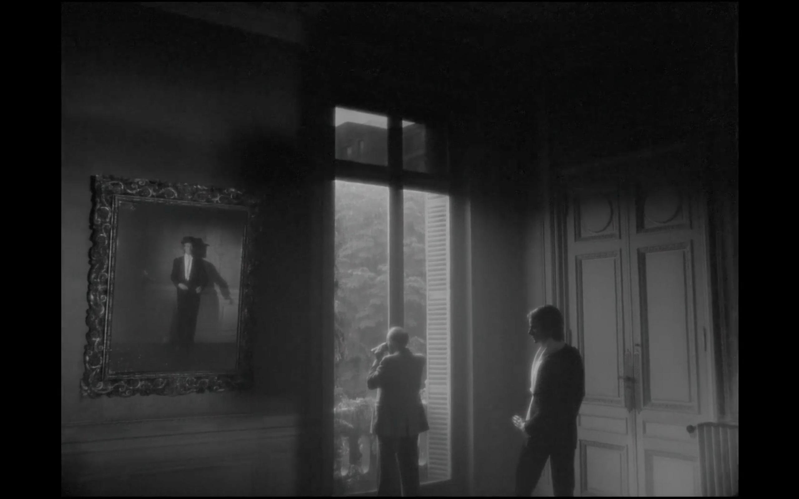 Film still from The Hypothesis of the Stolen Painting (1978) by Raúl Ruiz