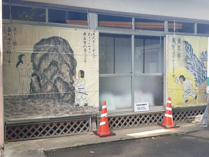 Dora Economou, Wall painting describing the journey to the Underworld at Shimane, Japan, smartphone photo